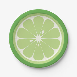 Lime Slice 7 Inch Paper Plate