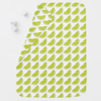 Lime Slice baby blanket