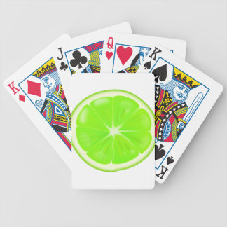 Lime Slice Bicycle Playing Cards