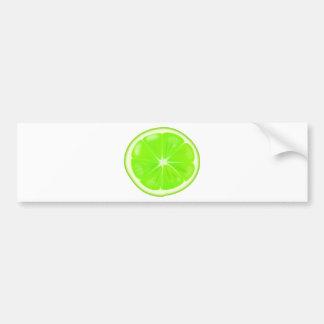 Lime Slice Bumper Sticker