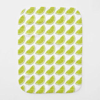 Lime Slice burp pad Burp Cloth