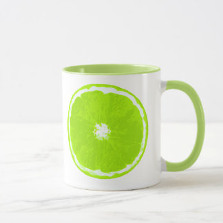 Lime Slice Digital Painting Mug