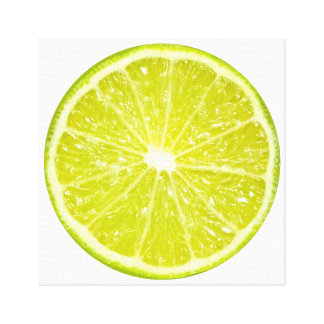 Lime Slice Fruit Art Canvas Print
