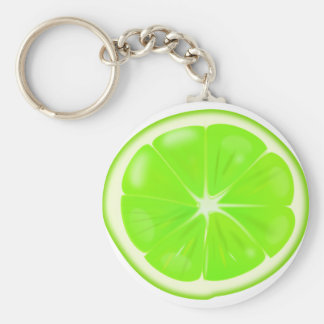 Lime Slice Keychain