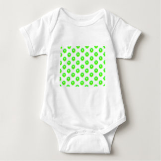 Lime Slice Polka Dots Pattern Baby Bodysuit
