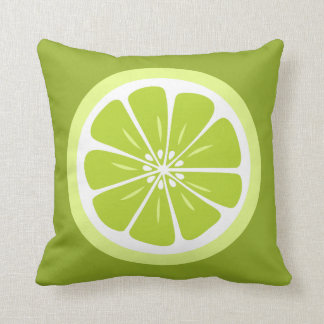 Lime Slice Summer Fun Throw Pillow