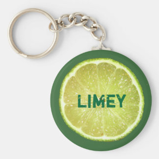 Lime Slices Keychain