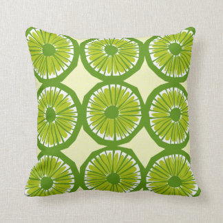 Lime Slices Large - 2 Throw Pillow