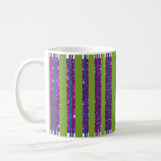 Lime Sparkly Striped Cup Trendy Chic Dining