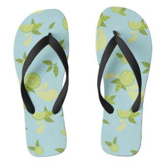Lime Splash Flip Flops