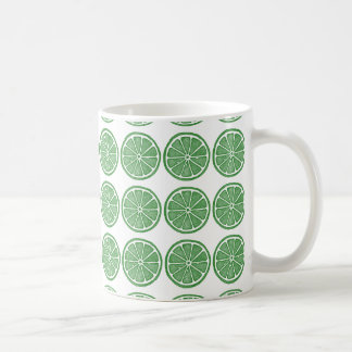 Lime stamped design mug