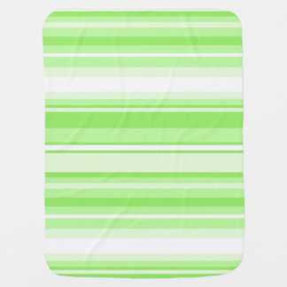 Lime stripes baby blankets
