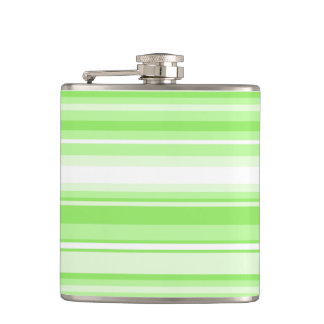 Lime stripes flasks