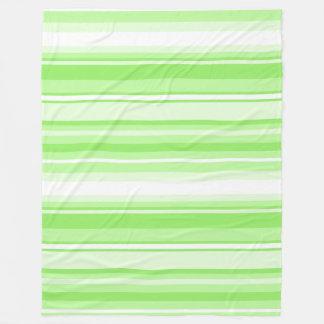 Lime stripes fleece blanket