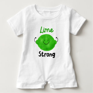 Lime Strong - Baby Romper