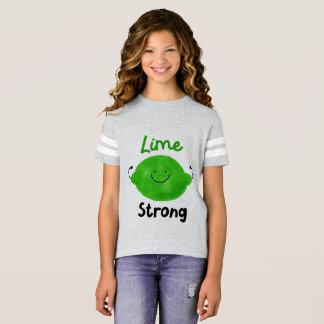 Lime Strong - Girls Football Shirt