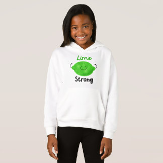 Lime Strong - Girls Pullover Hoodie