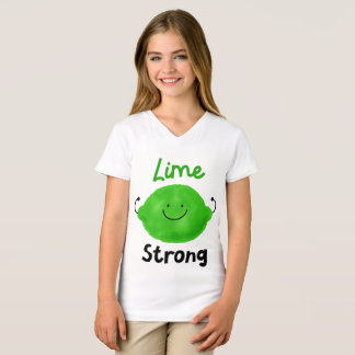 Lime Strong  - Girls' V-neck Tshirt