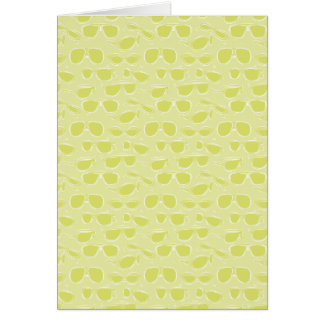 Lime Sunglass Pattern Greeting Card