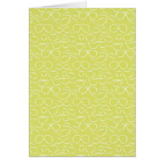Lime Sunglasses Pattern Greeting Card