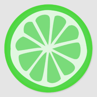 LIme Time Classic Round Sticker