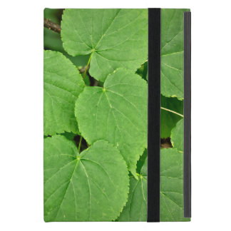 Lime tree leaves case for iPad mini