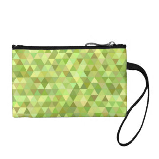 Lime triangles coin purses