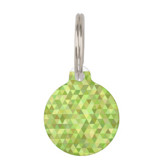 Lime triangles pet tag