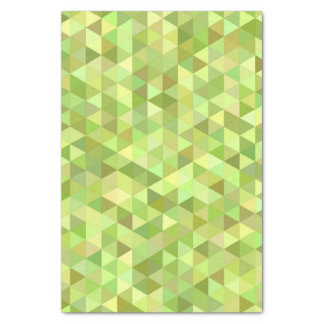 Lime triangles tissue paper