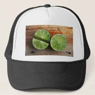 lime trucker hat