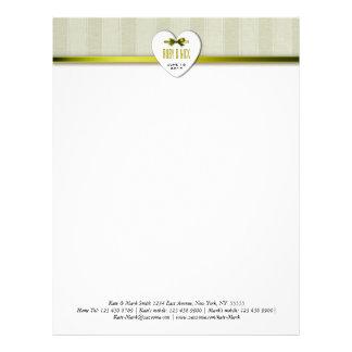 lime-W-StripedLinen invitations Personalized Letterhead