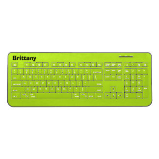 Lime Wireless Personalized Keyboard