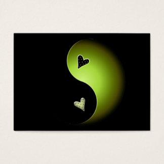 lime yin yang business card