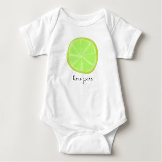 """Lime Yours"" Baby Bodysuit"