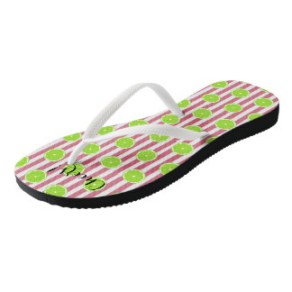 Limes And Nantucket Red Fiesta Party Flip Flops