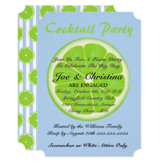 Limes And Seersucker Fiesta Cocktail Party Card