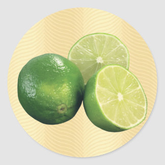 Limes Classic Round Sticker