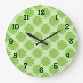 Limes Pattern Background Clock