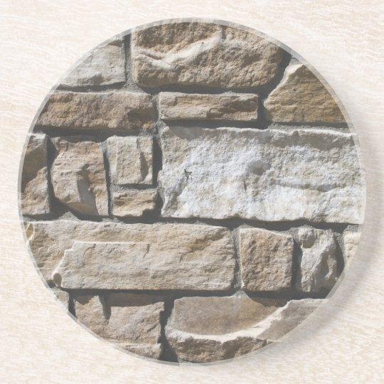 Limestone Bricks Beverage Coaster