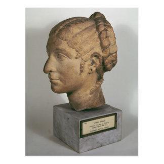 Limestone head of a Woman Postcard