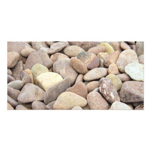 limestone pebbles customized photo card