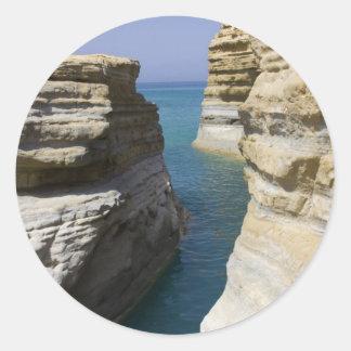 Limestone Rocks Rocks On Corfu Island Classic Round Sticker