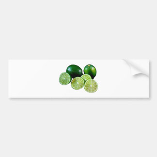 Limetten limes fruits bumper sticker