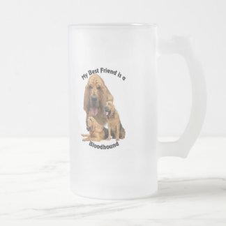 Limier de meilleur ami frosted glass beer mug
