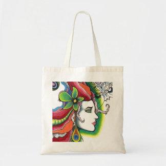 Limit portrait modern art tote bag