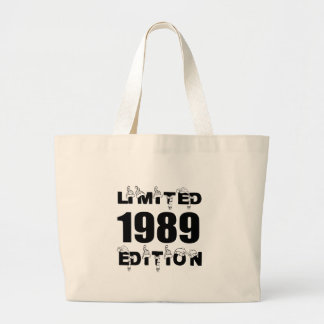 LIMITED 1989 EDITION BIRTHDAY DESIGNS LARGE TOTE BAG