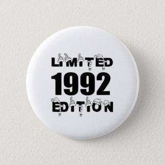 LIMITED 1992 EDITION BIRTHDAY DESIGNS 2 INCH ROUND BUTTON