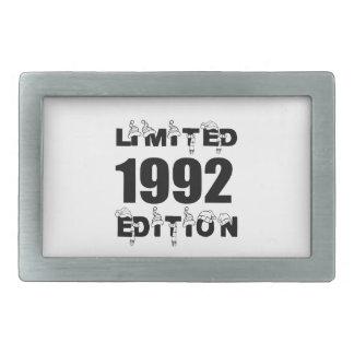 LIMITED 1992 EDITION BIRTHDAY DESIGNS RECTANGULAR BELT BUCKLE