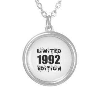 LIMITED 1992 EDITION BIRTHDAY DESIGNS SILVER PLATED NECKLACE