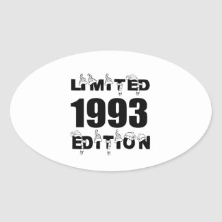 LIMITED 1993 EDITION BIRTHDAY DESIGNS OVAL STICKER